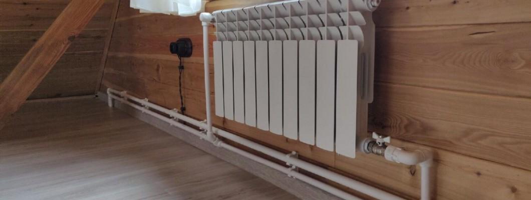 Монтаж отопления, установка радиаторов