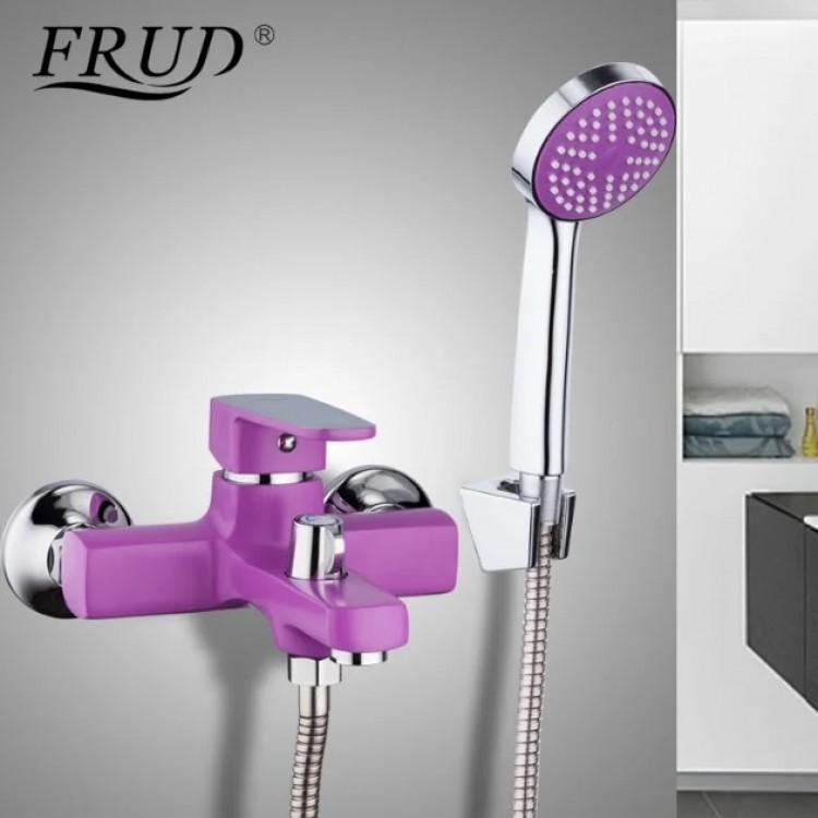 Cмеситель для ванны FRUD 32302 однорычажный, сиреневый