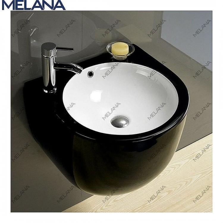 800-500 FBW Раковина для ванной подвесная (черная)  MELANA