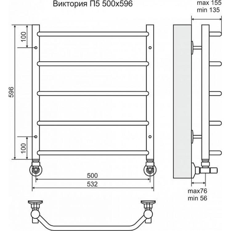 Полотенцесушитель Terminus Классик БП П5 (2-1-2)