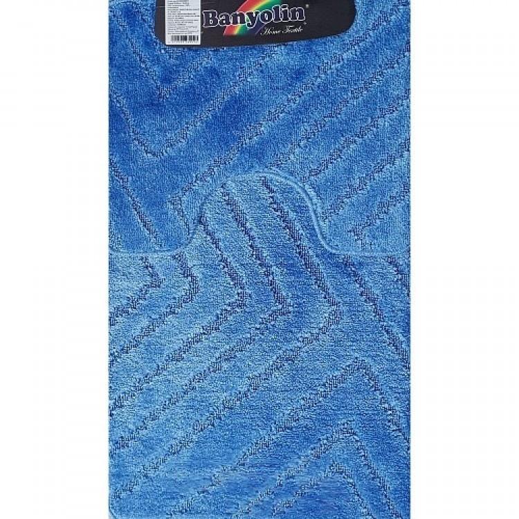 Набор ковриков (55*90+45*55) Classic Uni синий SANAKS