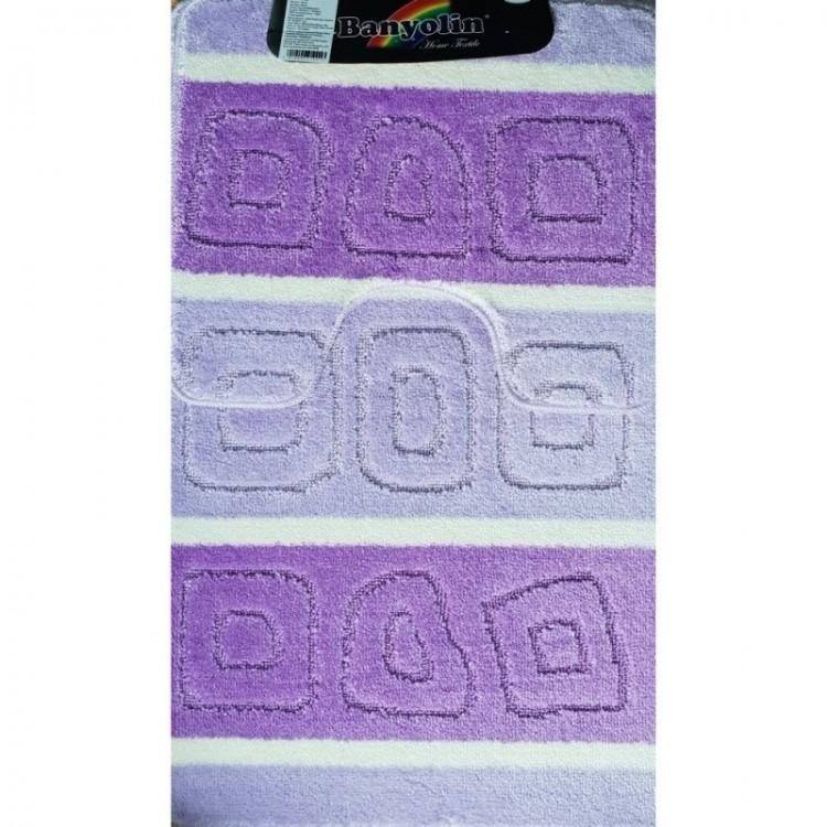 Набор ковриков (60*100+50*60) SILVER фиолетовый SANAKS