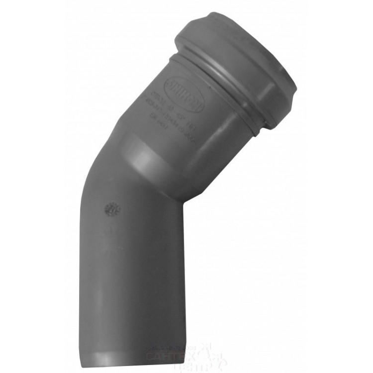 Отвод канализационный 45º Ду40 Sinikon