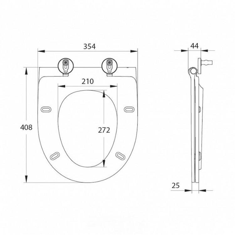 Сиденье для унитаза дюропласт IDDIS Soft Close, Easy Fix