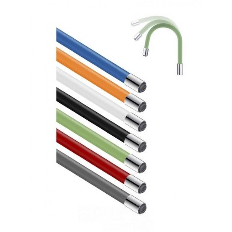 Силиконовый излив для смесителя FRAP W07 (серый)