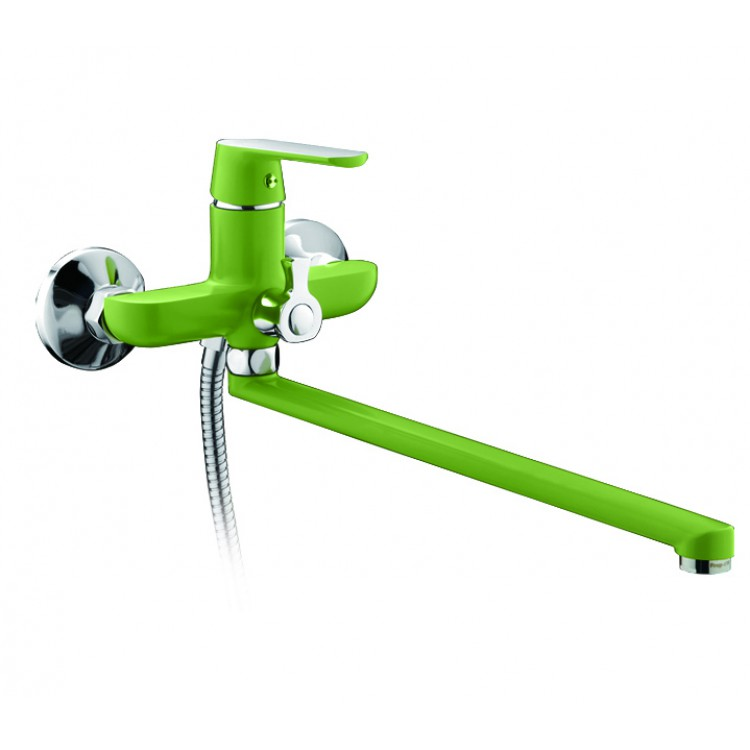 Смеситель для ванны F2233 однорычажный зеленый