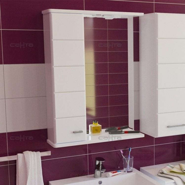Зеркальный шкаф Омега 50см, левый, свет
